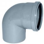 Отвод  канализационный 110 мм 90 градусов