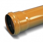 Труба канализационная наружная рыжая 110х3,2х1000 мм