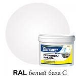 Резиновая краска Оптимист белая матовая 14 кг