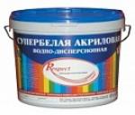 Краска  respect / респект акриловая супербелая 40 кг