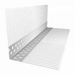 Уголок штукатурный перфорированный пластиковый с сеткой  10х15 мм 2.5 метра