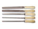 Набор напильников  с деревянными ручками 5шт