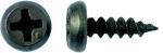 Саморез клоп острый черный размеры 3.5х11 мм