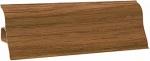 Плинтус напольный пластик с кабель каналом  Декопласт decoplast размер 2.5м Ольха