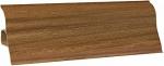 Плинтус напольный пластик с кабель каналом Декопласт decoplast 2.5 м Орех