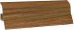 Плинтус пластиковый с кабель каналом Орех 117