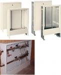 Шкаф распределительный коллекторный внутренний шрв 1  размеры 670х125х494 мм