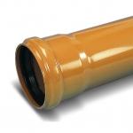 Труба канализационная наружная рыжая 160х4,0х1000 мм