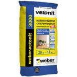 Вебер ветонит 3000 наливной пол 20 кг