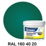 Резиновая краска Оптимист, зелёная 4.5 кг