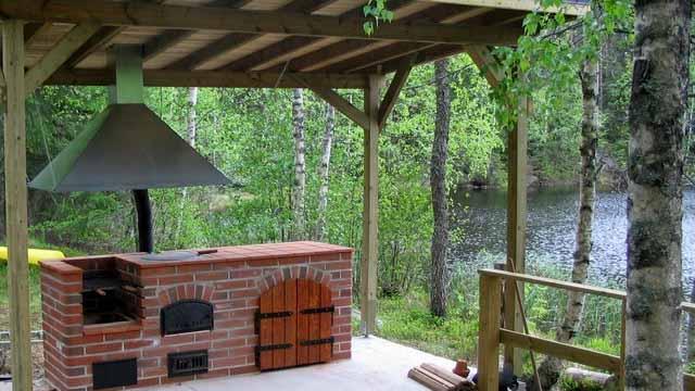 Беседки кухни с барбекю мангалом проекты фото летняя барбекю с несколькими огневыми точками