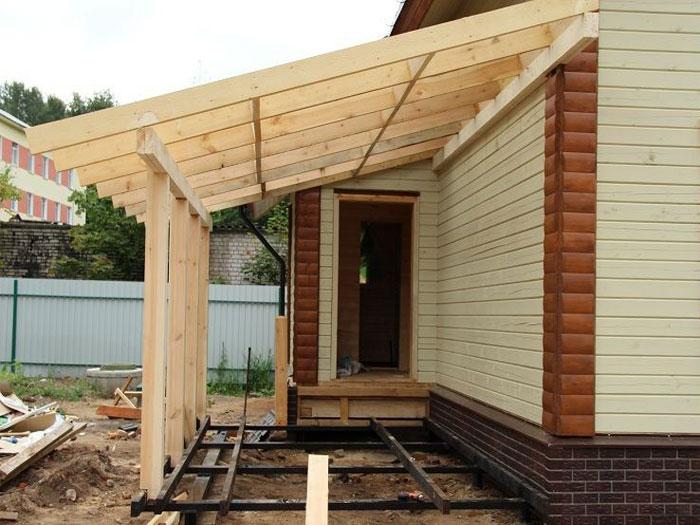 Как построить дом с верандой