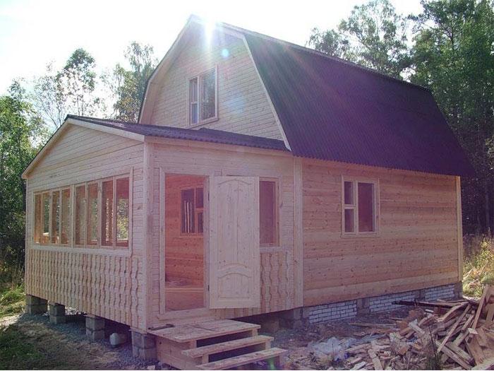 Пристройка к дому с двускатной крышей своими руками